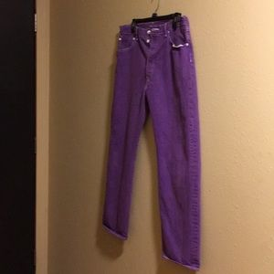 Men's Levis 501 jeans - purple
